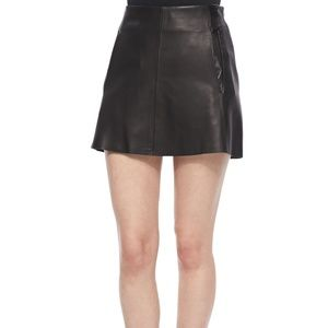 Rag & Bone Black Leather Florencia Mini Skirt